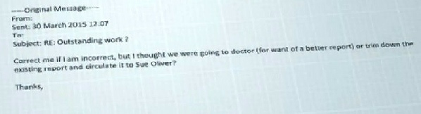 below is the e mail that a new homebuyer received after making a subject access request to bovis homes it clearly shows that bovis were going to doctor