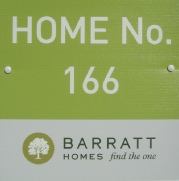 Barratt Homes Plot board