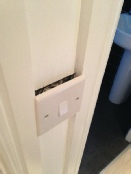 A typical defect in a Taylor Wimpey new home