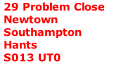 29 Problem Close Newtown Southampton Hants S013 UT0