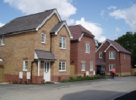 Social housing on a new housing estate