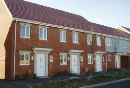 Barratt terrace of new homes