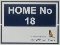 David Wilson Homes Plot Board